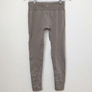 e0c0358747568 Athleta Pants | Nwot Shimmer Stripe Tight In Fox Taupe | Poshmark